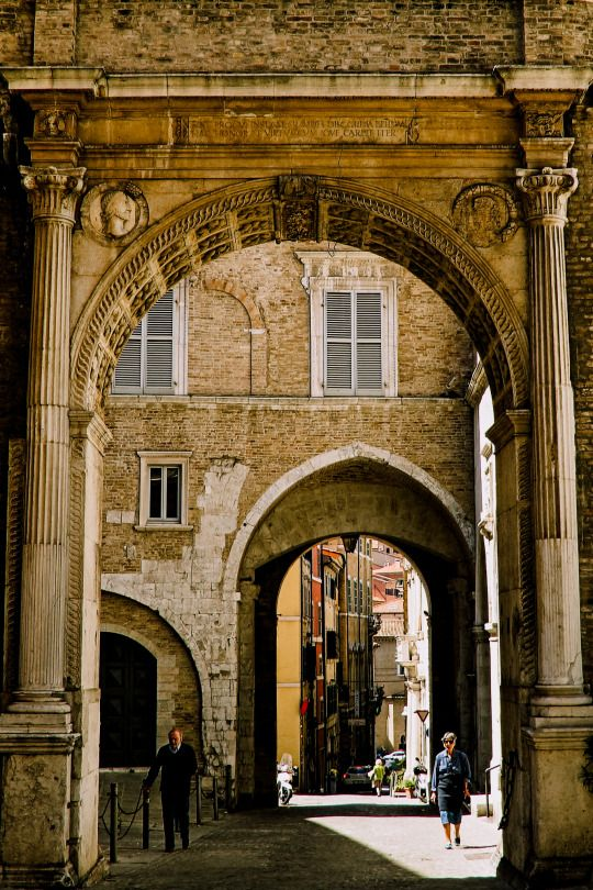 Ancona (Marche, Italy)Palazzo del Governo -Arco 2 by Gianni Del Bufalo CC BY-NC-SA https://www.flickr.com/photos/bygdb/albums/72157629173874057