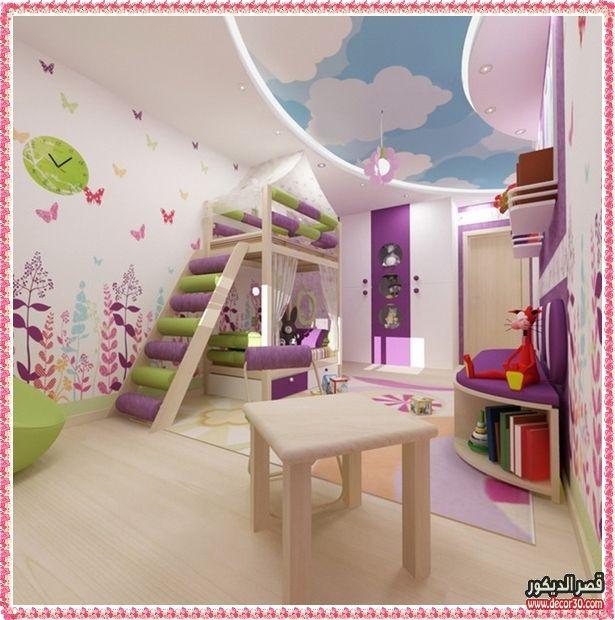 اشكال اسقف جبس بورد غرف وصالات وريسبشن متنوعة قصر الديكور False Ceiling Design Loft Bed Ceiling Design