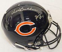 Dick Butkus & Mike Singletary & Brian Urlacher Signed Bears Proline Helmet