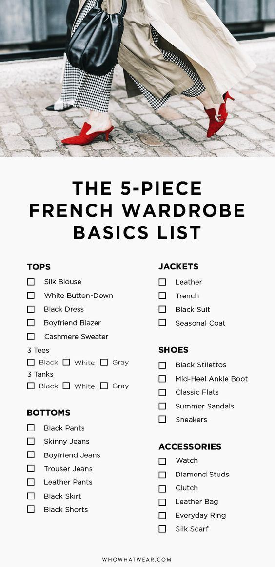 This French-inspired capsule wardrobe will help you get dressed with ease and cultivate your own look.