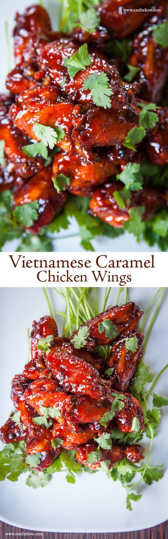 Vietnamese Caramel Chicken Wings | Eat The Love