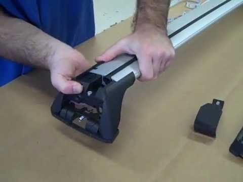 Whispbar Smart Foot Flush Bar Aerodynamic Wing Shaped Car Roof Racks Ins...