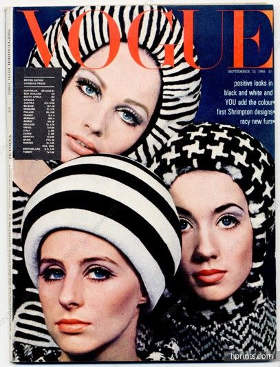 Photo by David Bailey, UK Vogue, September 15, 1965*