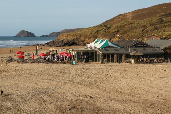 The Watering Hole, Perranporth Beach, Perranporth-Their Cornish cider and chips are excellent!
