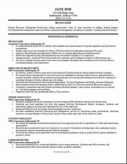 HR Management Resume2