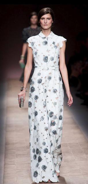 Valentino's Burned Dandelion's Dress Zoom Shot