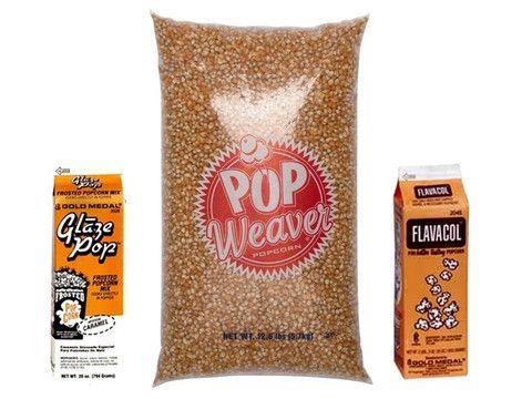 popcorn supplies- 5.7kg popcorn seeds,Flavacol Seasoning and Caramel seasoning