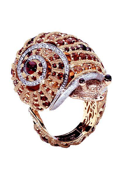 Alex Soldier Brown Diamond Snail Ring