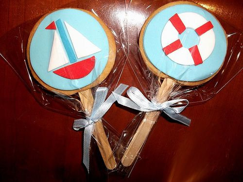 Nautical Cookies by Cre8acake, via Flickr