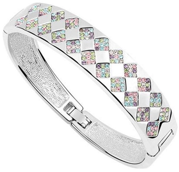 Silver and Pretty Pastels Bracelet