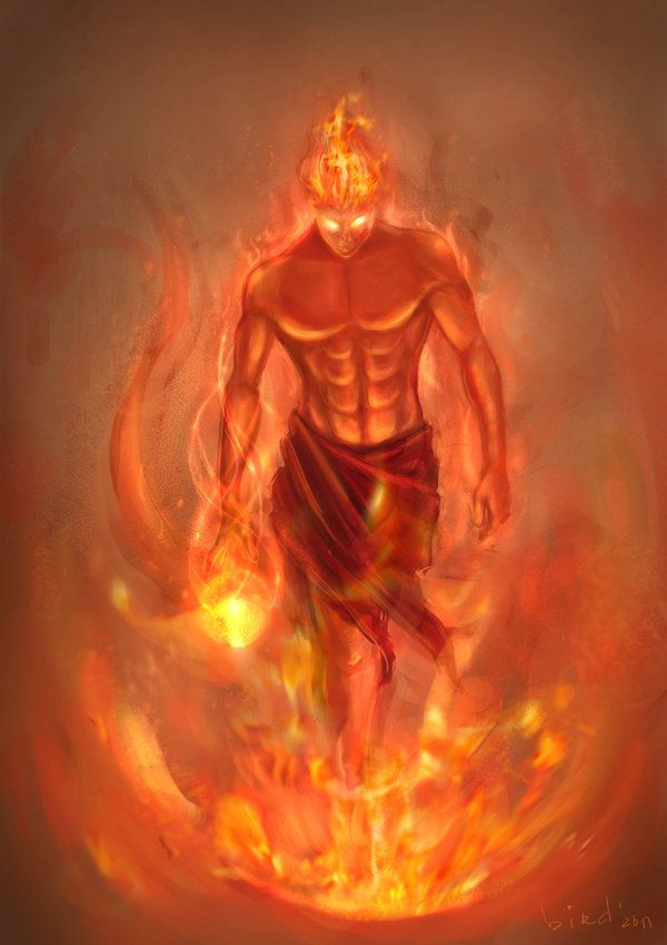 jinn that is depicted as an enormous winged, fire creature. They can be evil or good, but they are mostly evil.
