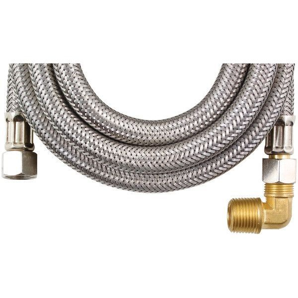 Certified Appliance Dw72Ssbl Braided Stainless Steel Dishwasher Connector With Elbow (6Ft)