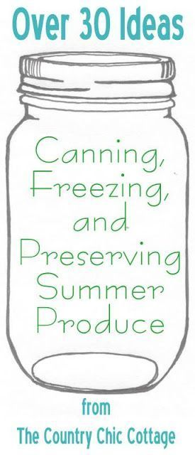 Your ultimate guide to canning, freezing and preserving your summer produce. A complete guide to all forms of food preservation. Contains affiliate LInks.#ad