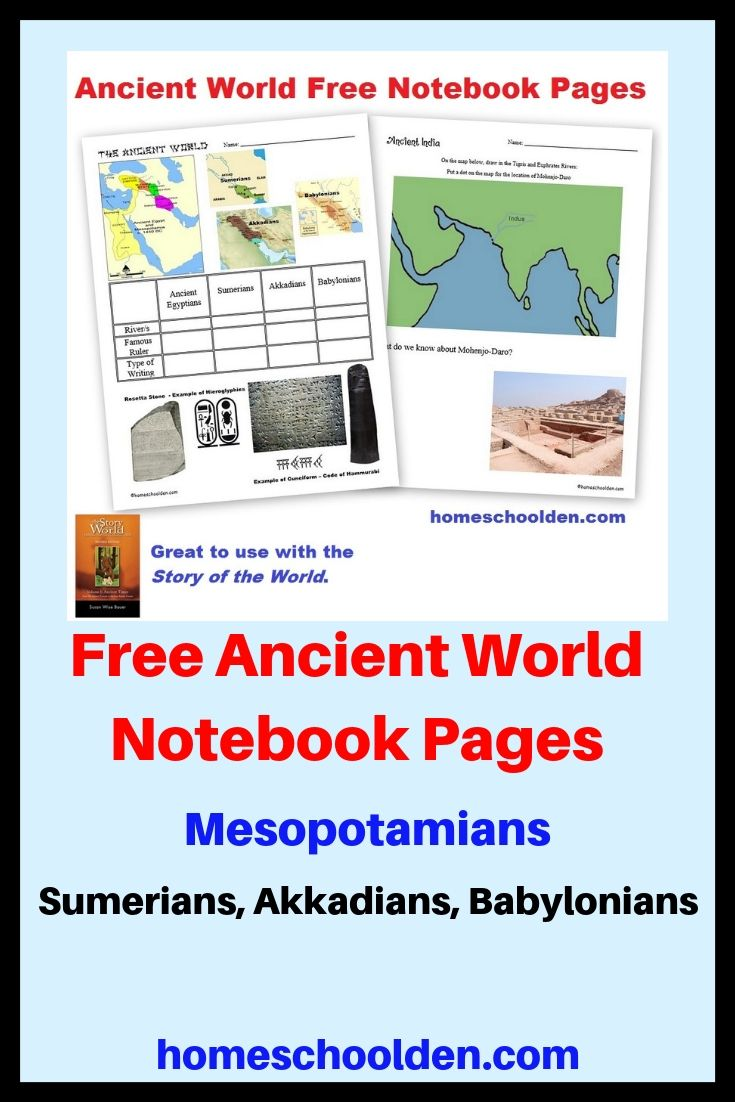 Free Ancient World Notebook Pages Ancient World History History Notebook Geography For Kids
