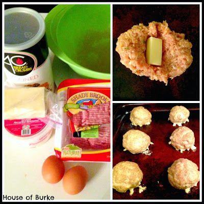 House of Burke: Toddler Meals: Cheddar Stuffed Turkey Meatballs