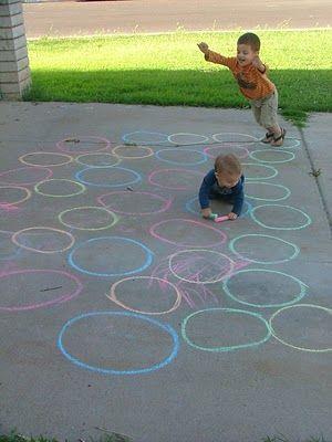 Little Hands, Big Work: Fun Side Walk Games (colored sidewalk paths)
