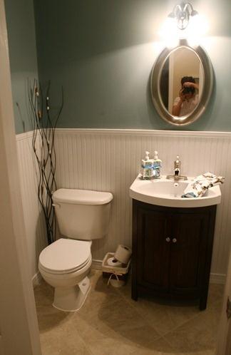 Powder Room Storage Under Sink Rather Than Pedestal