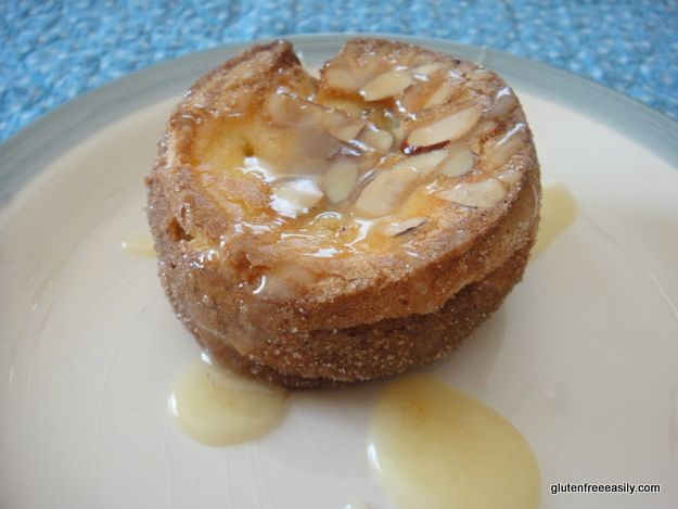 -Sugar-Crusted Almond Popovers .... think gluten-free Cinnamon Rolls ...