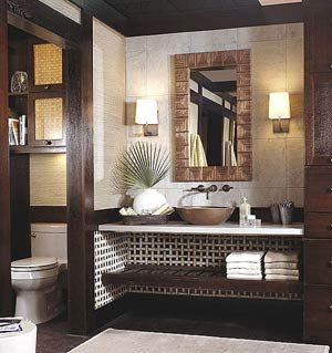 tropical style storage cabinets | Tropical-Style Bathroom Vanity | Bathroom & Kitchen Design Ideas ...