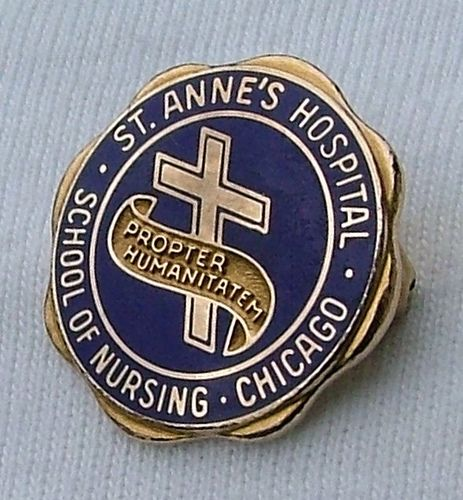 St. Anne's Hospital School of Nursing Chicago Graduation Pin by @nursingpins, via Flickr