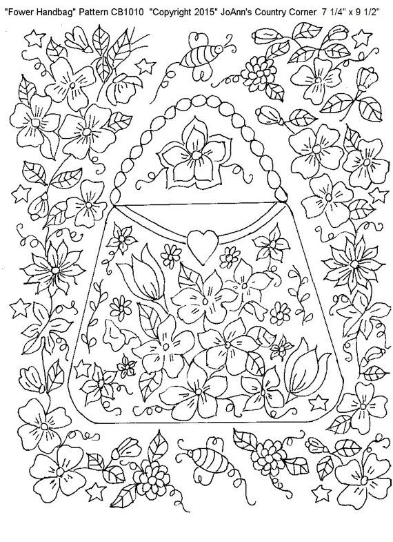 Adult Designs Coloring Page Pattern Stress Relieving Beautiful And Detailed Flower Handbag