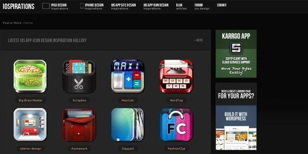 Get App design inspirations from well crafted App UI / Icon designs