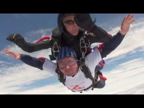 Steve Parton 2nd Skydive for charity - YouTube