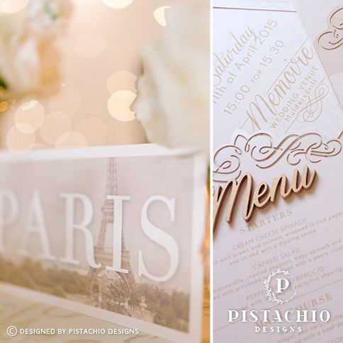 Classic table number & menu by www.pistachiodesigns.co.za