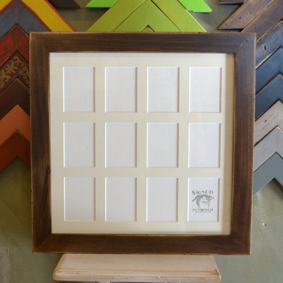 picture frame with mat window openings for x wallet size photos or aceo cards in colors of your choice by signedandnumbered on etsy