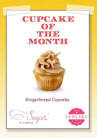 """""""Don't forget to try the exclusive Gingerbread Cupcake only at #sugarthepatisserie. Available only till end of #July #cupcakeofthemonth #mumbaieats #gingerbread"""""""