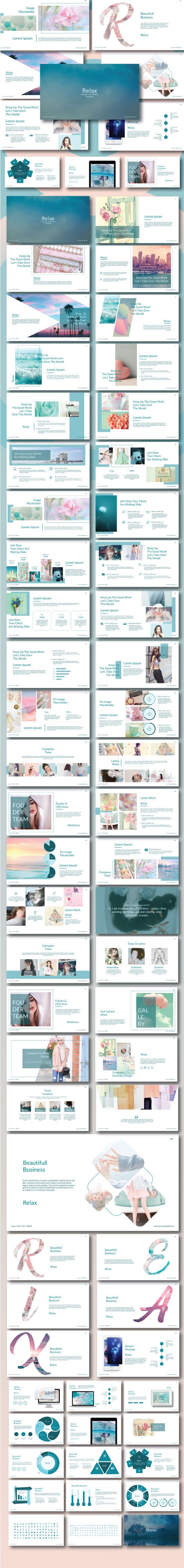 Relax - Creative Modern Google Slide Template - #Google #Slides Presentation Templates