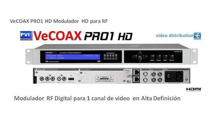 Modulador HDMI a RF 1 canal HD Vecoax Pro1 Provideoinstruments