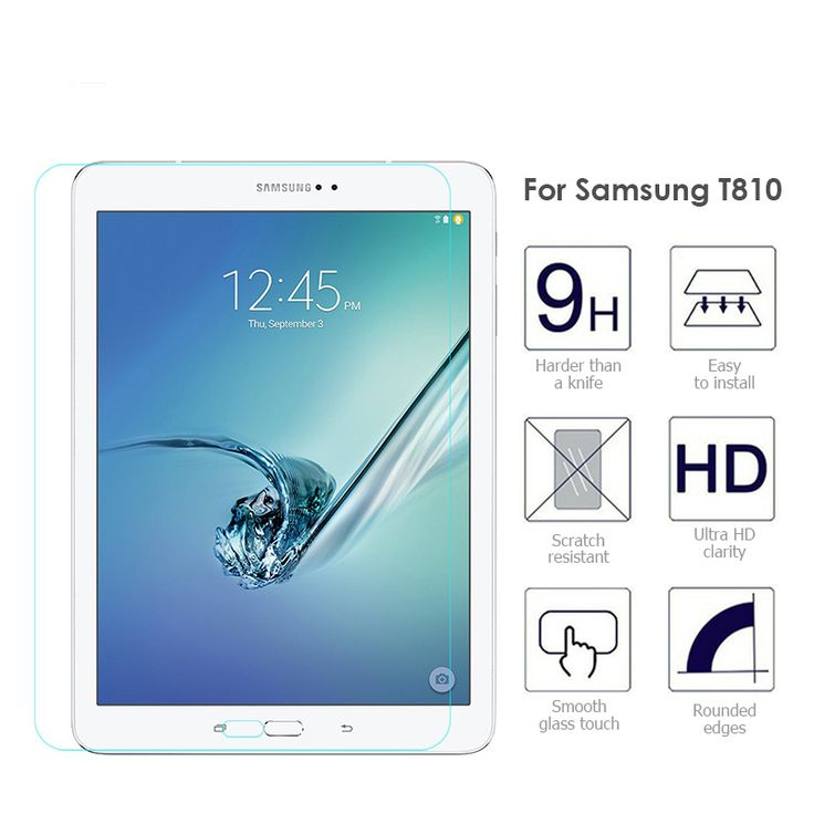 """Tempered Glass Screen Protector For Samsung Galaxy Tab S2 9.7"""" T810 T815 Tablet PC Film Ultra Clear Scratch Proof  Protective. Yesterday's price: US $8.28 (6.75 EUR). Today's price: US $5.13 (4.21 EUR). Discount: 38%."""