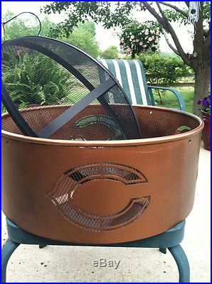 chicago bears firepit....oh boy do I want this!!!!