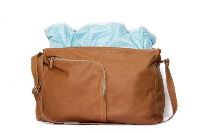 Bolso Maternal de Cuero- Leather Diaper Bag
