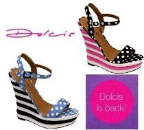 DOLCIS CANDY STRIPE POLKA DOT STRAPPY PLATFORM WEDGES WOMENS LADIES SHOES SANDALS SIZES 3-8