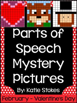 Included are five parts of speech mystery pictures with answer keys. They include the following parts of speech:-Nouns-Pronouns-Verbs-Adverbs-Adjectives-Prepositions-Conjunctions-InterjectionsBe sure to download my FREE Parts of Speech Posters to go along with this activity!This product is part of my Parts of Speech Mystery Pictures  Complete All Year Bundle where you can purchase the entire year of mystery pictures at a discount!