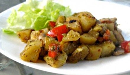 Pesto Pork Potato Skillet