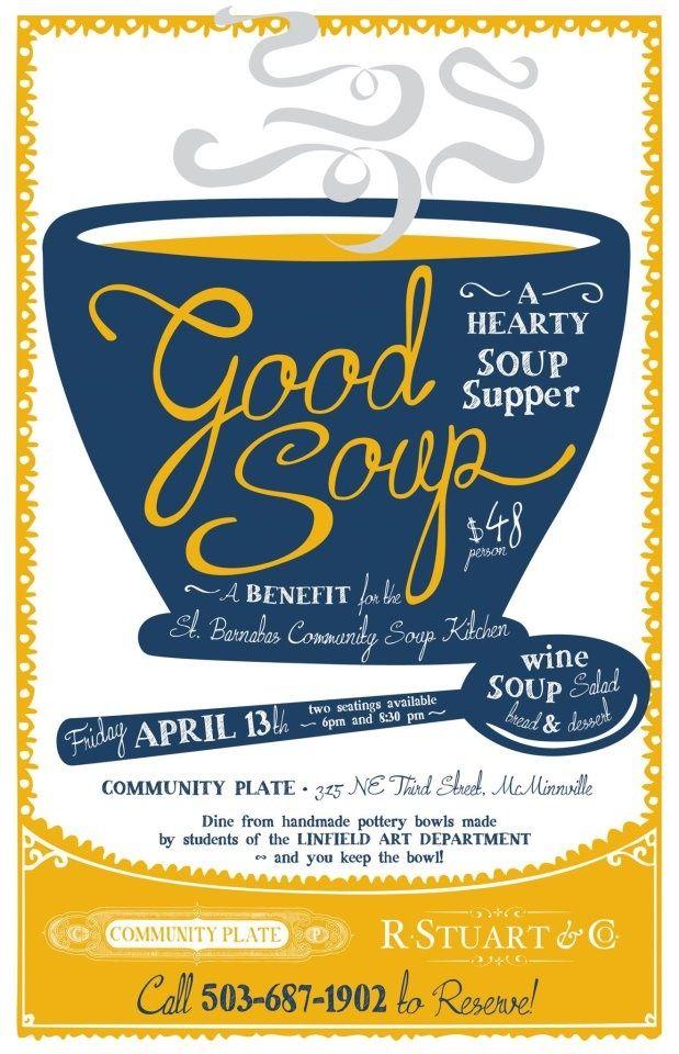 soup fundraiser flyer
