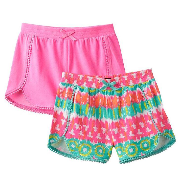 Girls 4-6x Freestyle Revolution 2-pk. Printed & Solid Shorts, Girl's, Size: 6X, Ovrfl Oth