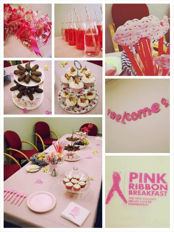 Treena had all the ingredients ready for a wonderful Pink Ribbon Breakfast!