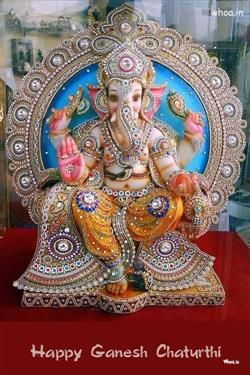 Happy Ganesh Chaturthi Creative Statue, Ganesh Chaturthi Greetings, Ganesh Chaturthi Fb Covers, Ganesh Chaturthi Images For Facebook