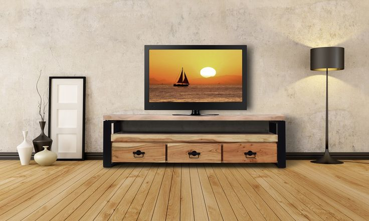 Planke Tv Bord i rustikke Akacietræs Planker