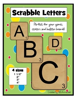 Use these printable scrabble letters for your own games, centers, and bulletin boards. Just print on card stock, laminate, cut and you're ready to ...
