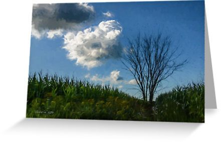 """""""Countryside Tree / L'arbre de la campagne"""" Greeting Card by Galerie 503"""