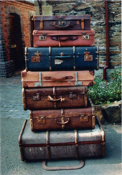 Suitcases In Vintage Style
