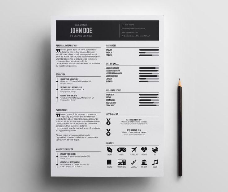 Mejores 85 imágenes de CV en Pinterest | Cv creativo, Gráficos y ...