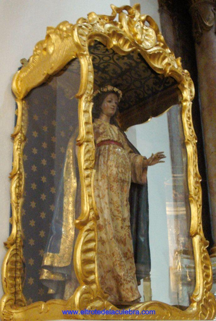 Imagen venerada en Cádiz por aquellas mujeres que no pueden tener hijos o tienen en camino partos dificultosos.