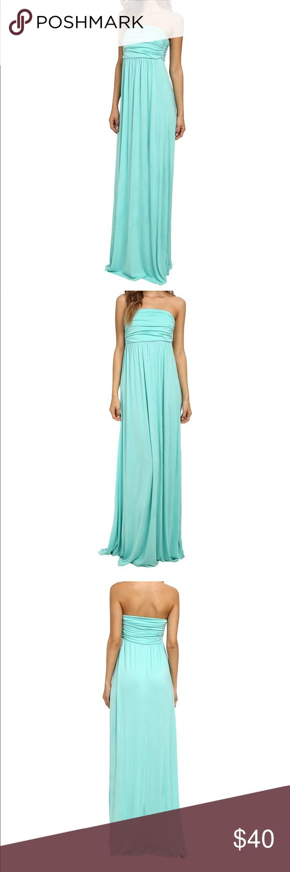 Gabriella Rocha Maxi Dress Mint Green Gabriella Rocha Maxi Dress. Dress is gently used. Size Small. There are silver streaks throughout Dress, they are not stains or deodorant. It's part of Dress coloring. I am selling a J Crew necklace that I originally bought to wear with dress but never did. Will bundle together for discounted price and shipping ☺️ gabriella rocha Dresses Maxi