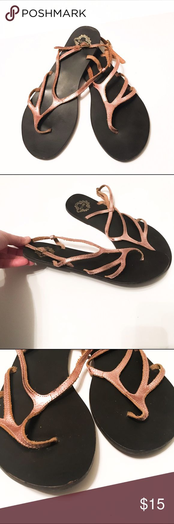 Urban Outfitter Ecote Rose Gold Strappy Sandals This are gently used Urban Outfitter Ecote Rose Gold Strappy Sandals. In excellent condition. Leather straps. Fits size 9. Ecote Shoes Sandals